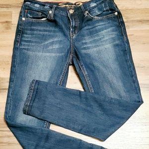 Seven 7 Girlfriend Jeans Sz 4 Dark Wash